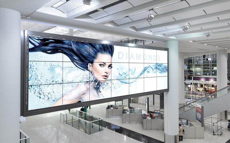 Indoor videowall