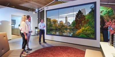 Videowalls in de showroom
