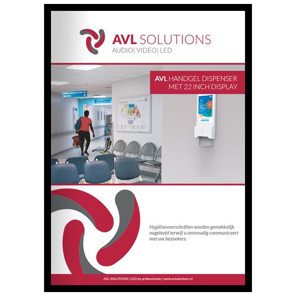 AVL Handgel dispenser met 22 inch display brochure