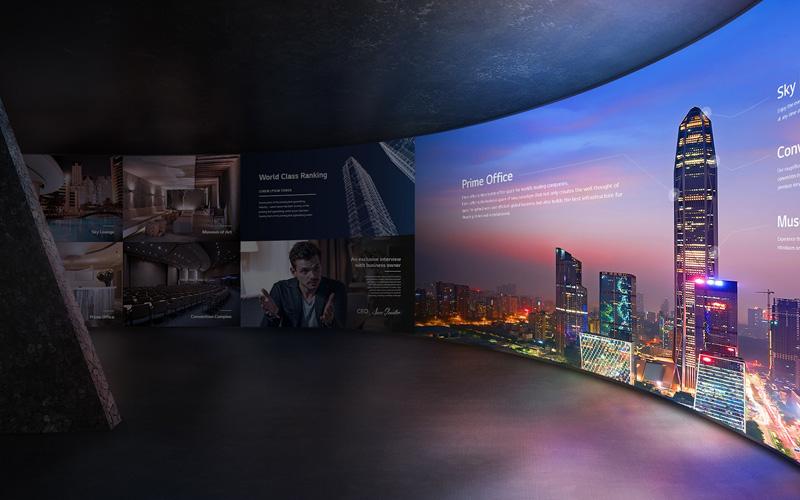 indoor led wall congrescentrum
