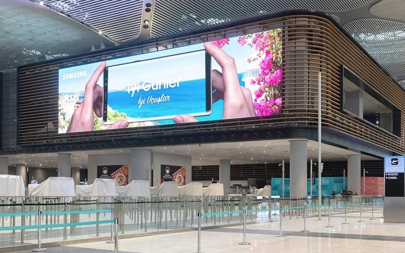 indoor led wall vliegveld
